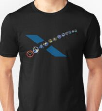 NASA/SpaceX CRS (SpX) Commercial Resupply Services Mission Patches T-Shirt