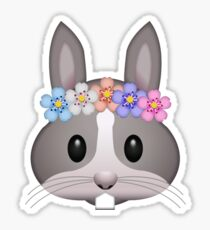 Bunny Flower Crown Secret Emoji | funny internet meme Sticker