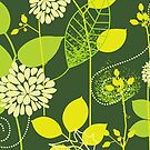 Foliage Lemon & Lime [iPhone / iPod Case and Print] by Didi Bingham