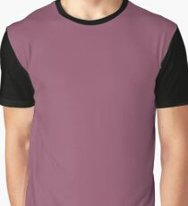 Purple - brown solid Graphic T-Shirt