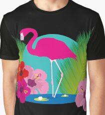 Floral Flamingo Graphic T-Shirt