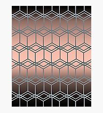 Brown pink geometric pattern  Photographic Print
