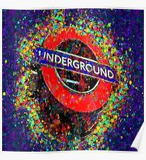 Underground London Color Spash Poster