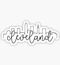 Pegatina contorno del paisaje urbano - cleveland