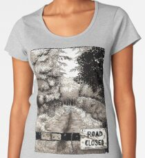 Spooky Road Illustration Women's Premium T-Shirt