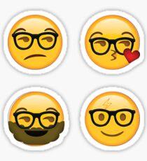 Hipster Secret Emoji 4-Pack | funny internet meme Sticker
