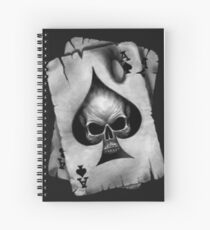 Ace of Skulls  Spiral Notebook