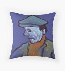 Man in a flat cap Throw Pillow