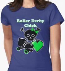 Roller Derby Chick (Green) T-Shirt