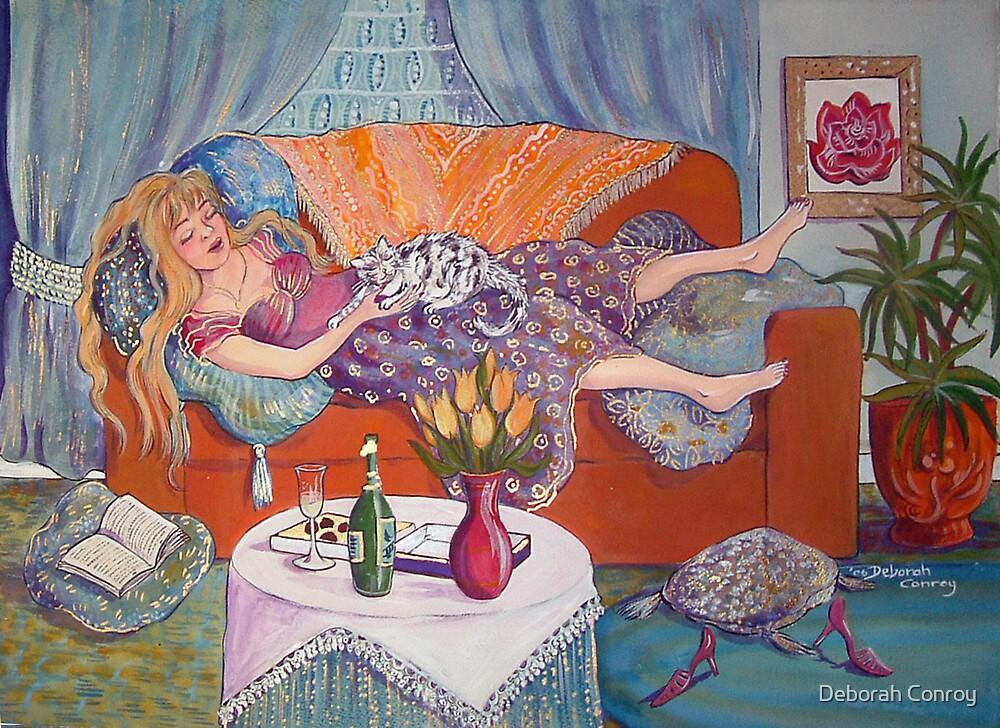 Young Woman Resting by Deborah Conroy