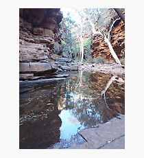 Tranquil pool in a gorge Photographic Print