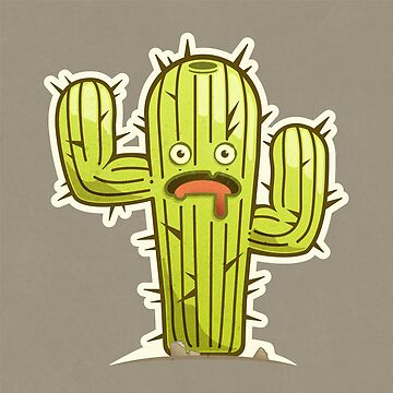 Scared Vector Cactus by msharris22