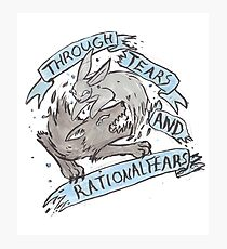 Through Tears and Rational Fears Photographic Print