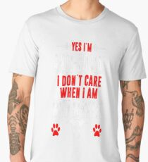Antisocial I Dont Care When With Whippet Tshirt Men's Premium T-Shirt