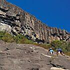 Rock Climbing Mount Beerwah by Edwin Davis