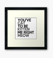 you've_cat_to_be_kitten_me_right_meow Framed Print