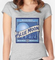 Blue Moon Beer  Women's Fitted Scoop T-Shirt