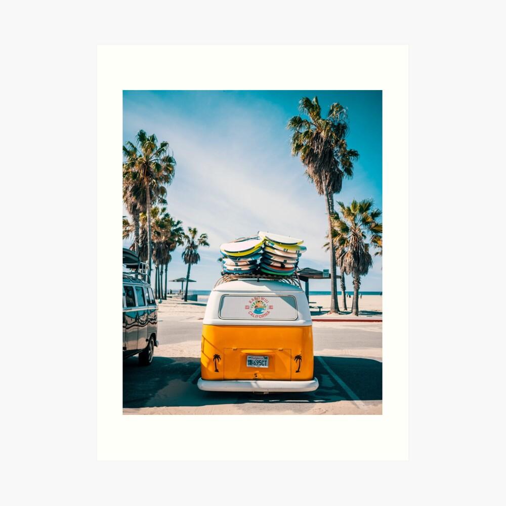 Combi van surf Art Print