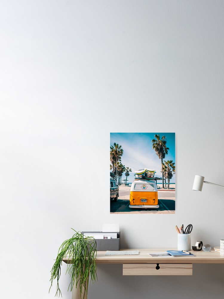 Alternate view of Combi van surf Poster