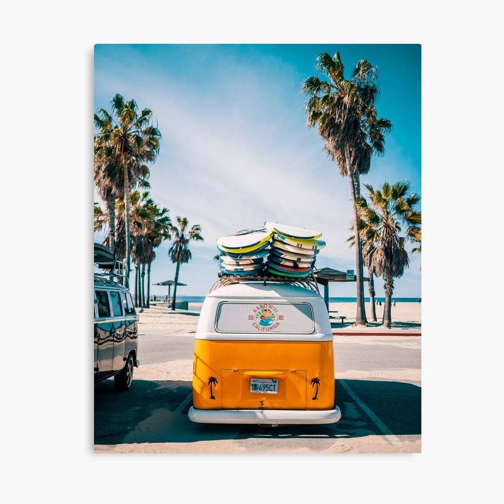 Combi van surf Canvas Print