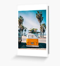 Combi van surf Greeting Card