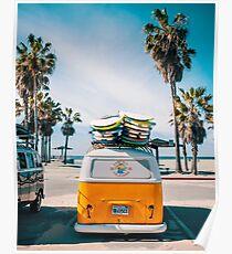 Combi van surfen Poster