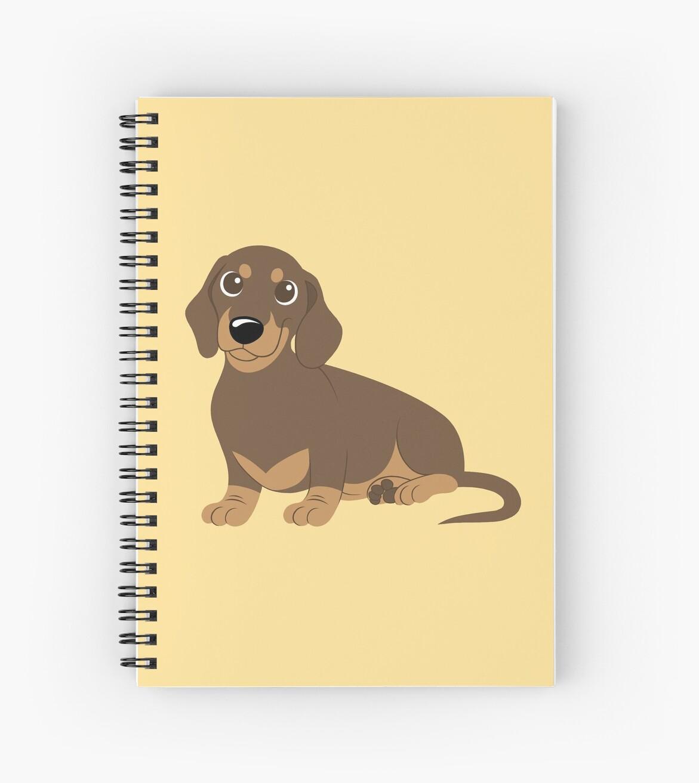 Cuadernos de espiral «Dachshund en miniatura - Chocolate» de Callie ...