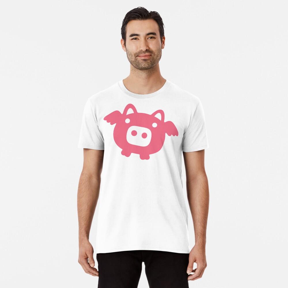 Fliegende rosa Schwein Premium T-Shirt