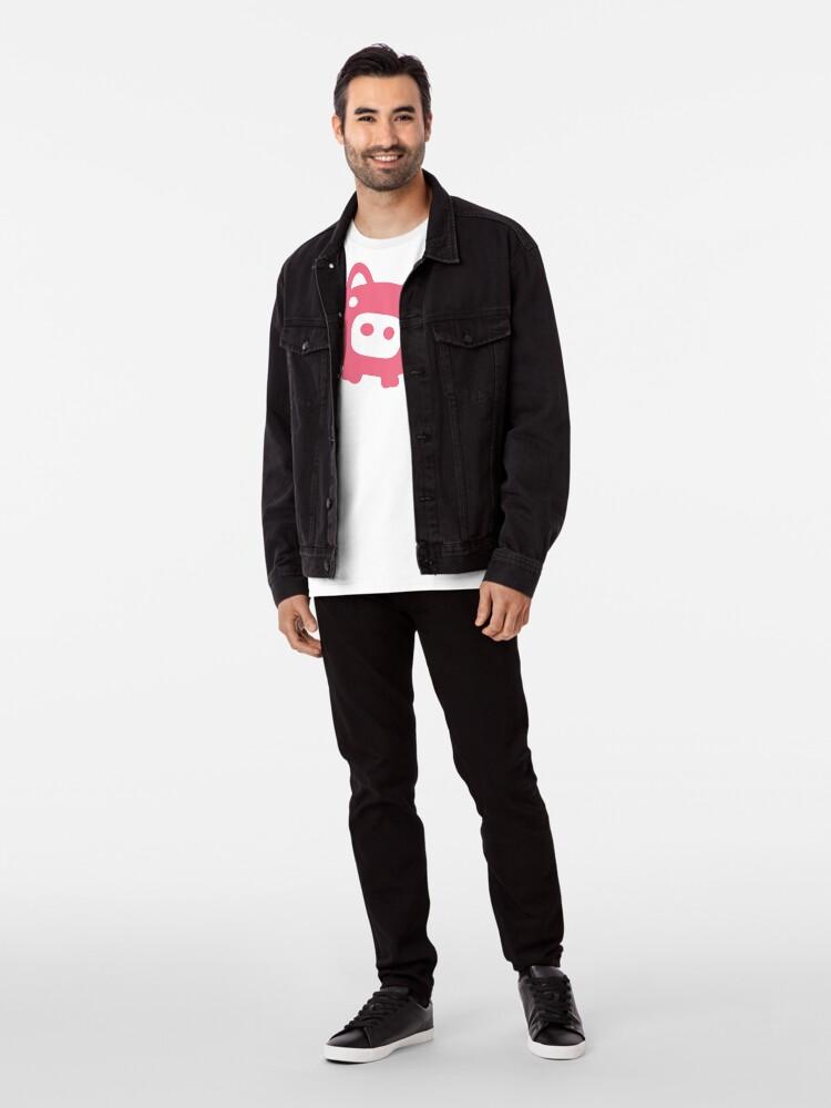 Alternative Ansicht von Fliegende rosa Schwein Premium T-Shirt