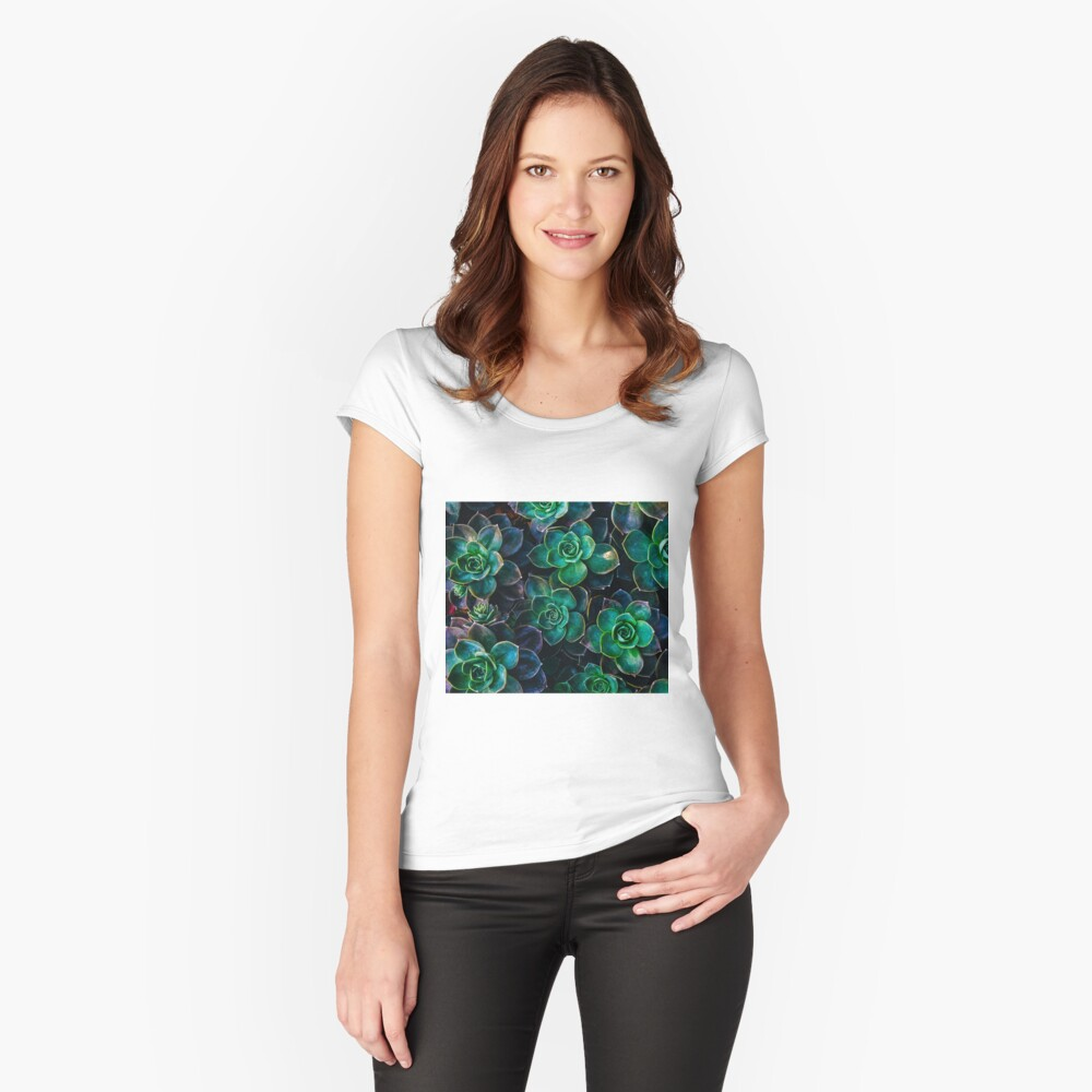 Succulent fantasy Fitted Scoop T-Shirt