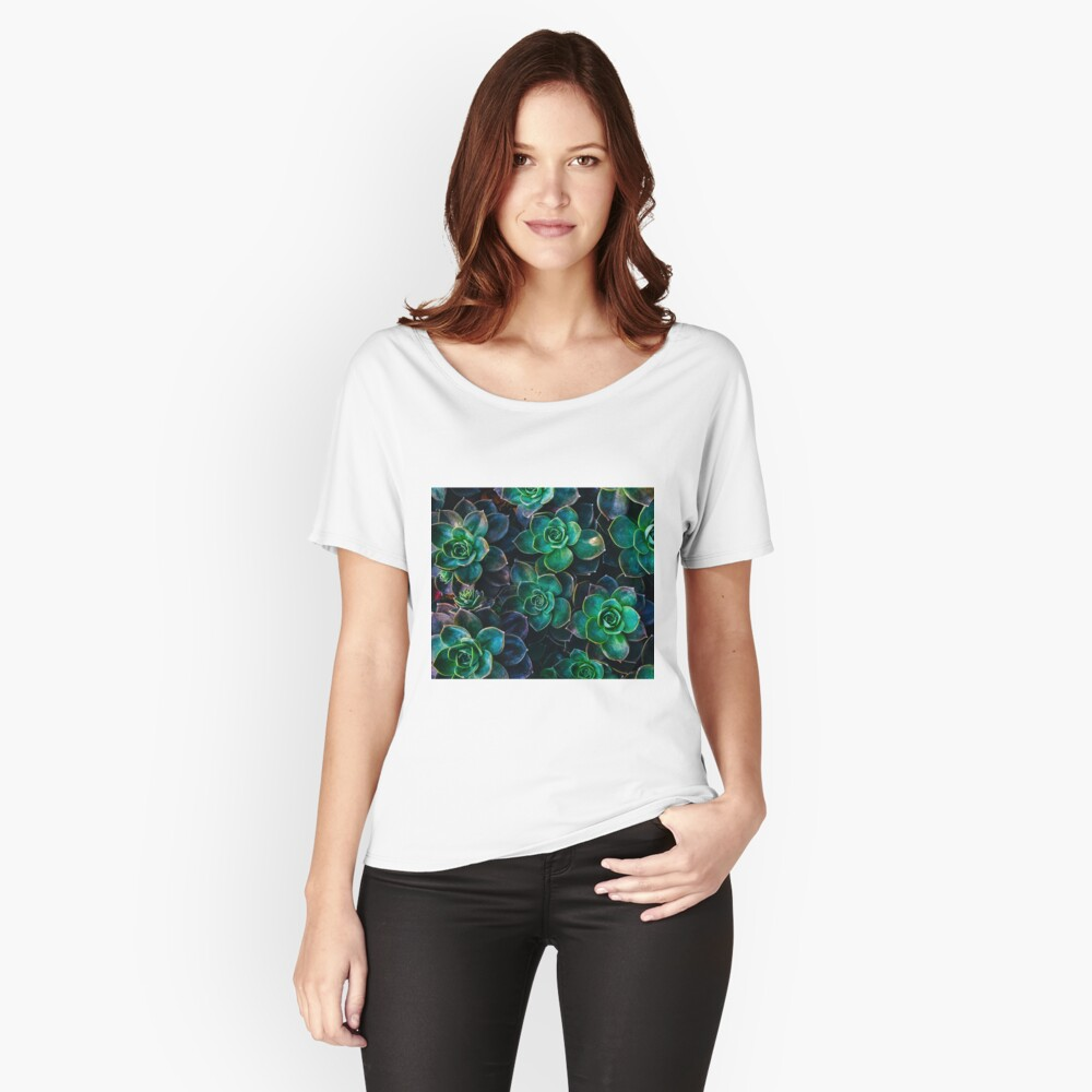Succulent fantasy Relaxed Fit T-Shirt