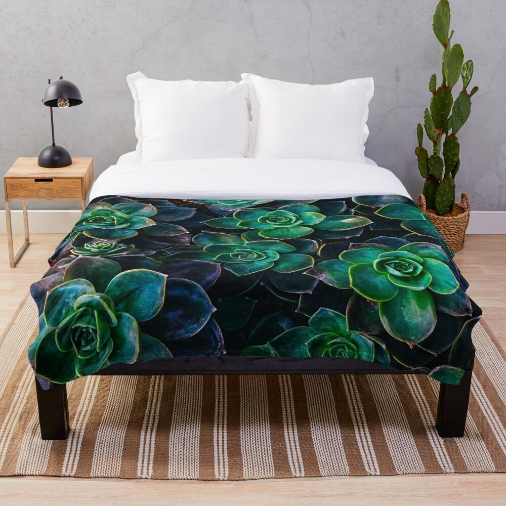 Succulent fantasy Throw Blanket
