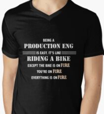 BEING A PRODUCTION ENG Men's V-Neck T-Shirt