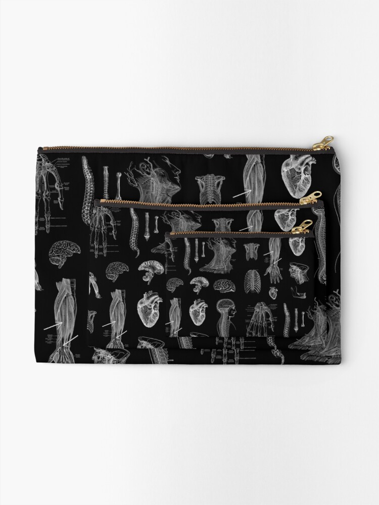 Alternate view of Vintage Anatomy Print  Zipper Pouch