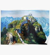 Great Wall Oil Painting Poster