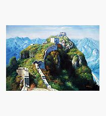Great Wall Oil Painting Photographic Print