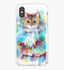 Watercolor cat 2018 iPhone Case