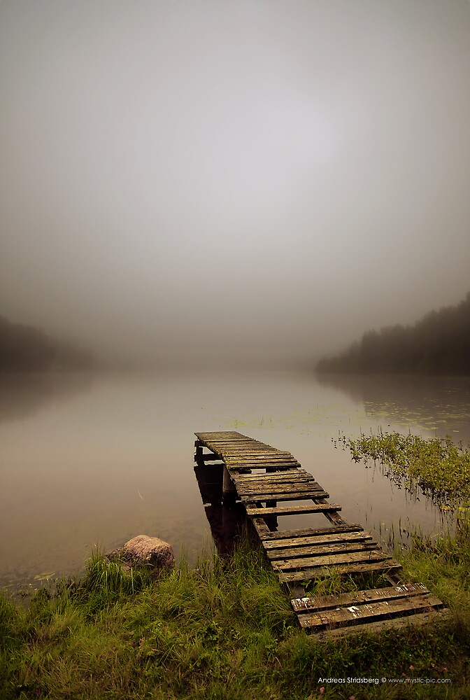 Old pier in the Mist by Andreas Stridsberg