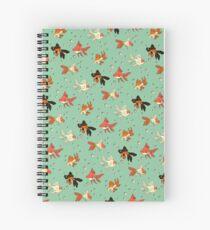 Goldfish Pattern Spiral Notebook
