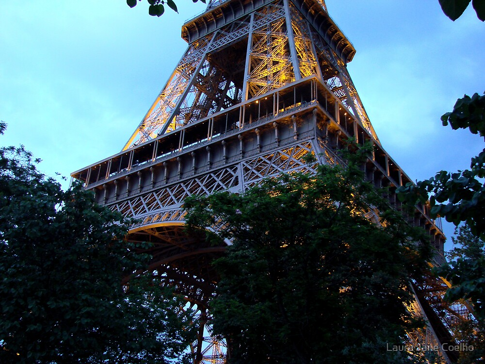 A different angle of the Eiffell Tower - Paris by Laura Jane Coelho