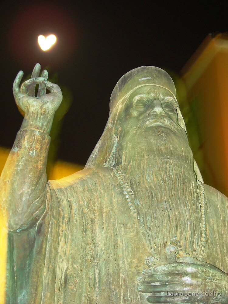 Statue of an Ortodox priest in the main square of Chania - Crete by Laura Jane Coelho
