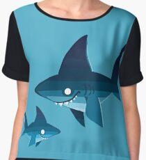Shark Family Women's Chiffon Top