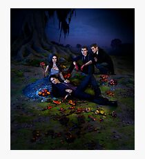 Elena, Damon, Stefan and Klaus - The Vampire Diaries - Season 3 - Promotional Poster  Photographic Print