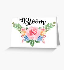 Bloom ~Watercolor Flower Bouquet Greeting Card