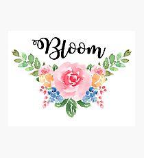 Bloom ~Watercolor Flower Bouquet Photographic Print