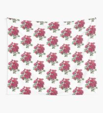 Red Roses Bunch Wall Tapestry