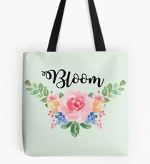 Bloom ~Watercolor Flower Bouquet Tote Bag