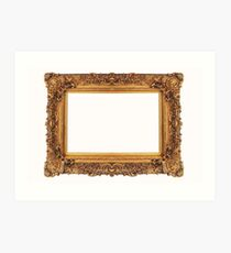 Baroque Golden Frame Art Print