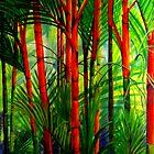Lipstick Palms (triptych) by Ciska