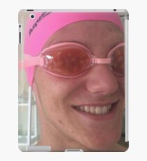 Man wearing goggles filled with beans iPad Case/Skin
